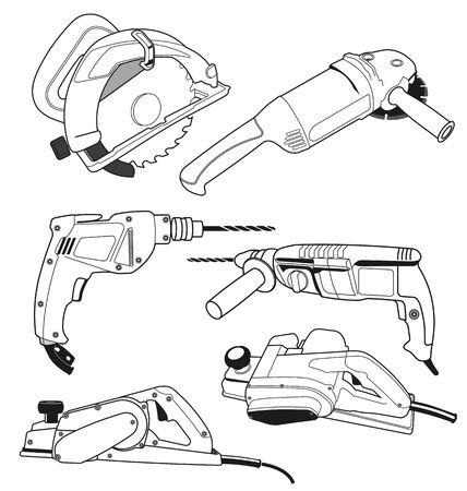 palette knife: Vector illustration of   tool set