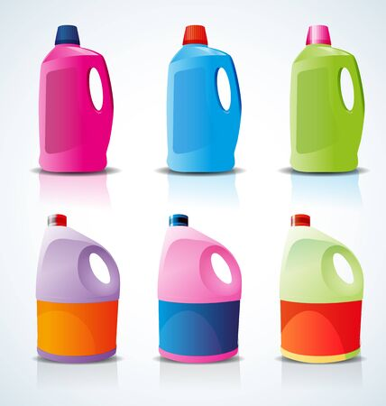 laundry washer: plastic bottle for liquid laundry detergent