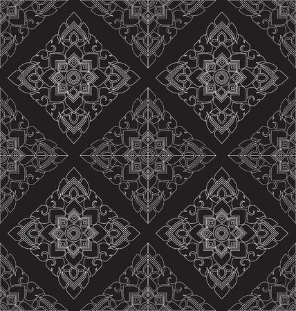 thai style: Thai style art pattern wallpaper