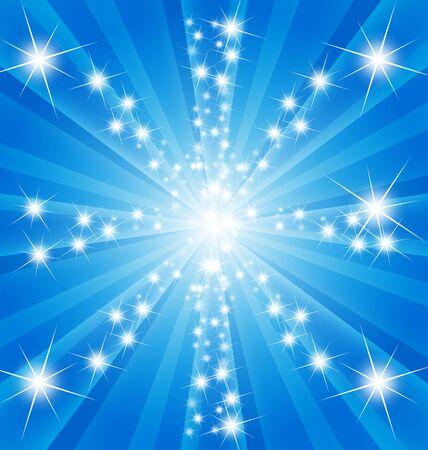 sparkle starry on sunburst background