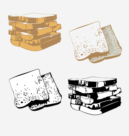 bread loaf: bread loaf Isolated illustration on white background Illustration