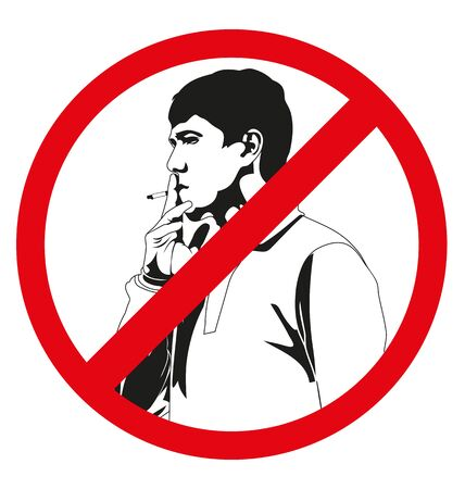 permitted: vector illustration of No smoking sign