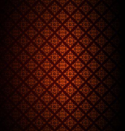 Vector illustration of Thai art wall pattern Vector