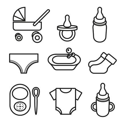 babe: Vector illustration of   baby icon Illustration