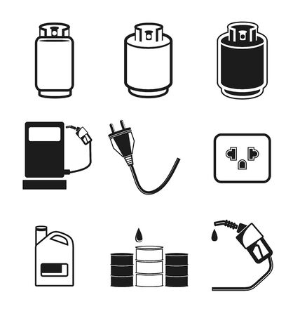flaring: Vector illustration of   energy icon Illustration