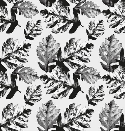 vibrancy: Vector illustration of  seamless leaves