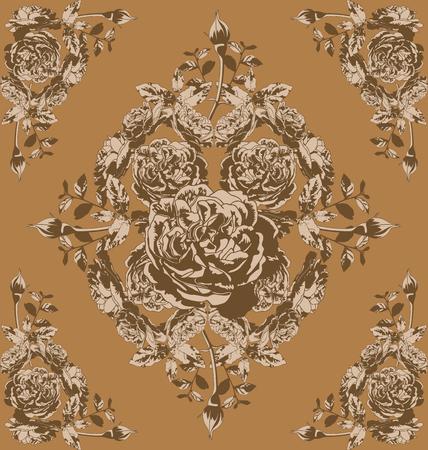 elegantly: Vector illustration of  rose  pattern Illustration