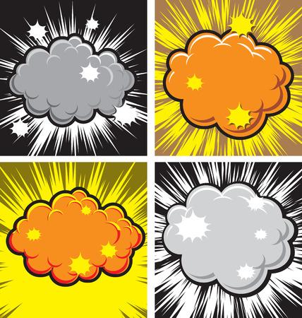 explotion: Vector illustration of  boom explotion comic