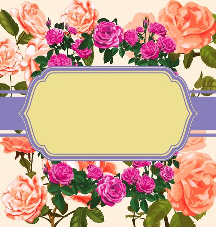 vector illustration of floral  pattern card