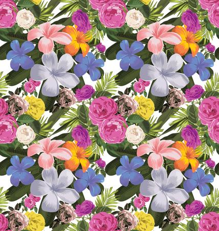Vector Illustration of floral seamless pattern Illustration
