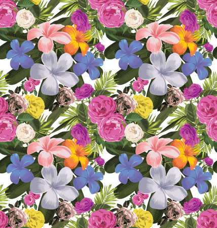 luau party: Vector Illustration of floral seamless pattern Illustration