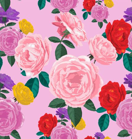 transparently: Vector Illustration of floral seamless pattern Illustration