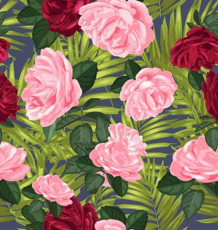 freshness: Vector Illustration of floral seamless pattern Illustration