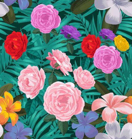 fragility: Illustration of floral seamless pattern Illustration