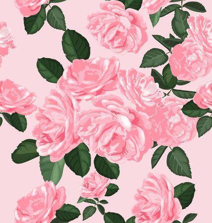 transparently: Illustration of floral seamless pattern Illustration