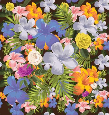 Vector Illustration of floral seamless pattern Ilustração