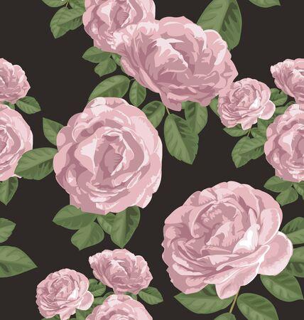 bouquet of flowers: Illustration of rose seamless pattern Illustration