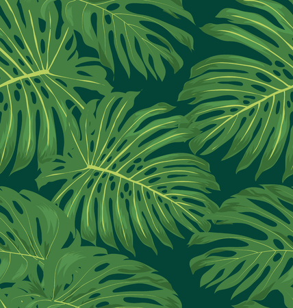 tropical: seamless tropical leaves pattern