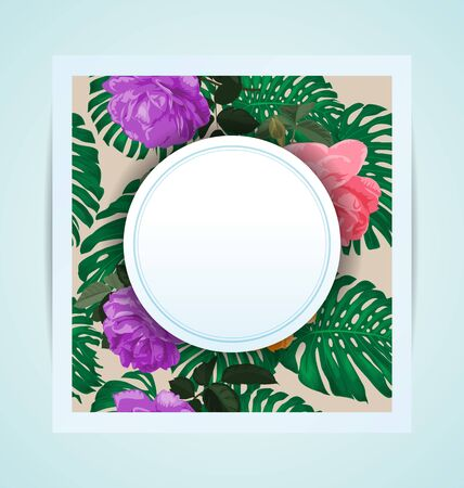 Illustration of  floral seamless pattern card