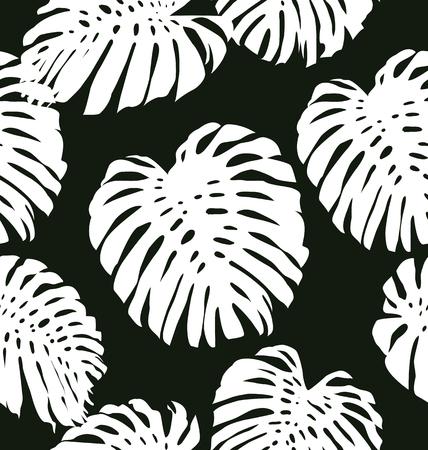 tattered: Illustration of Monstera leave seamless pattern