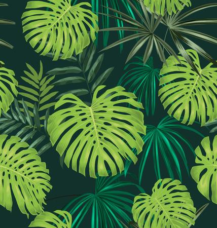 Illustration of  leave seamless pattern Ilustrace