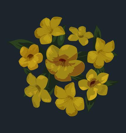 bunch: Vector Illustration of flower bunch