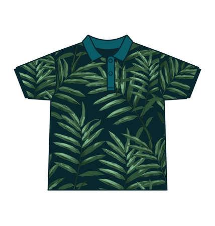 habiliment: Illustration of  leaf  pattern shirt