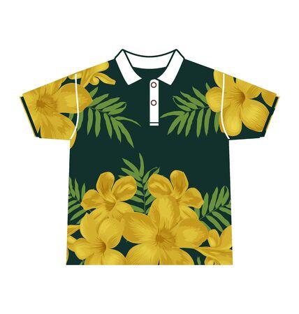 habiliment: Illustration of  floral  pattern shirt