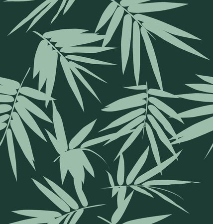 Bamboo leaf seamless background, feuillage seamless