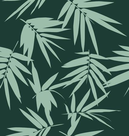 hojas de bambú de fondo sin fisuras, patrón transparente follaje