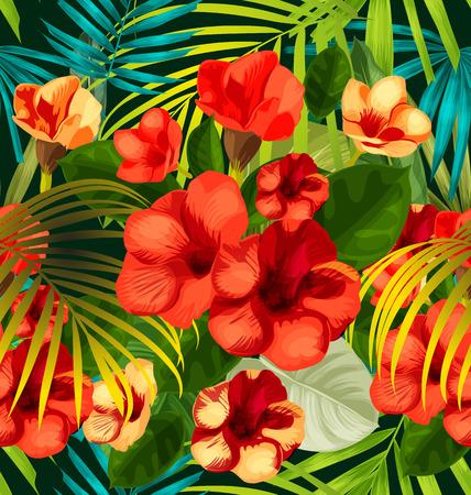 Allamanda flower.Allamanda fleur seamless Vecteurs