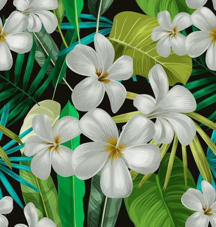 Illustratie van bloemen naadloos patroon