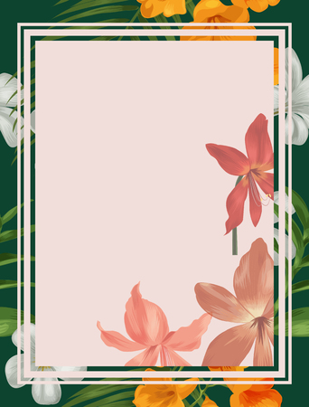 Illustration of floral pattern card