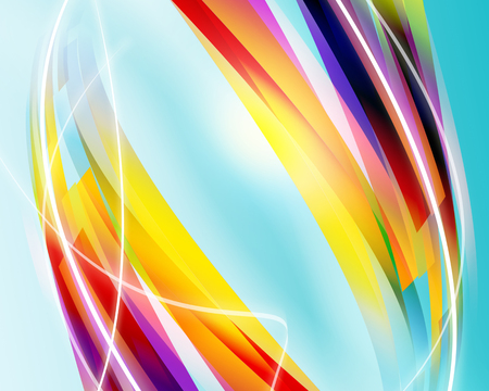 Illustration of wavy Abstract Background Stock Photo