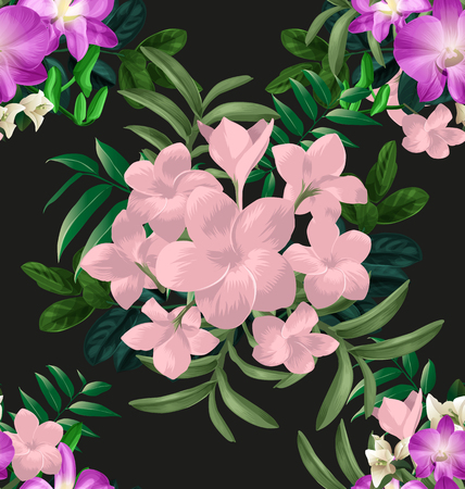 Illustration of  floral seamless pattern