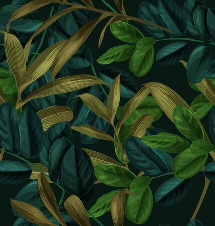 Vector Illustration of  foliage seamless pattern