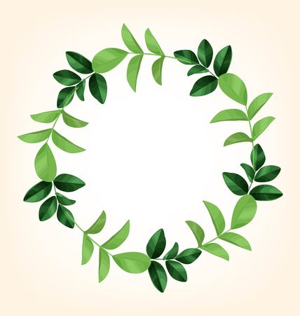 Illustration of  wreath of leaves