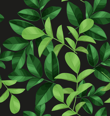Illustration of  leaf seamless pattern