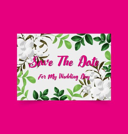 Save the date cards, wedding invitation card. Illustration