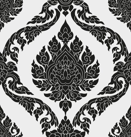 Illustration of Thai style pattern Illustration
