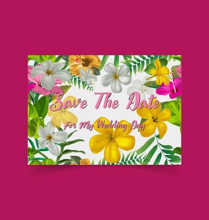 Save the date cards, wedding invitation card. Illustration