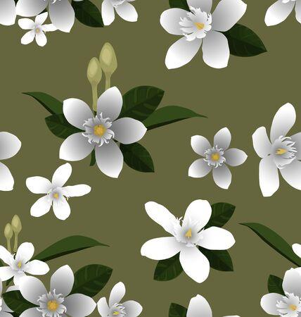 bedcover: Illustration of floral seamless pattern Illustration