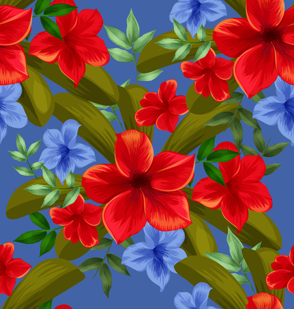 Illustration of floral seamless pattern Illustration
