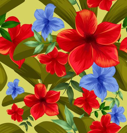 Illustration of floral seamless pattern Illustration