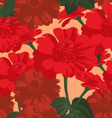 bedcover: Seamless pattern with chrysanthemum flowers