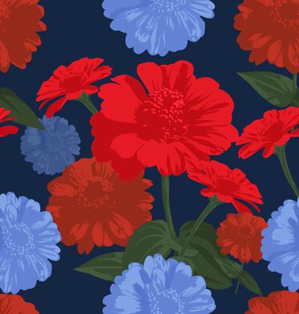 Seamless pattern with chrysanthemum flowers