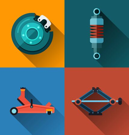 spare: Vector Illustration of automotive spare part icon.