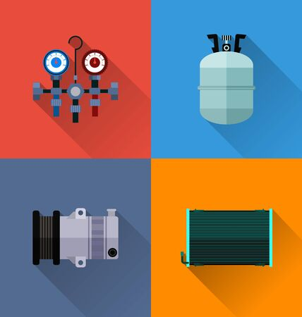 machanic: Vector Illustration of  automotive spare parts  icon. Illustration