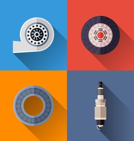 Vector Illustration of  automotive spare parts  icon. Illustration