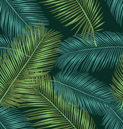 repeated: Vector Illustration of leaf seamless pattern